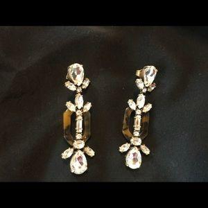 J.Crew Crystal and Resin Earrings